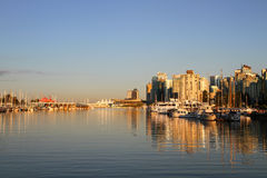 Vancouver afton, Kanada Arkivbilder