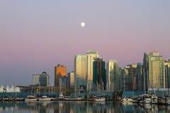 Vancouver afton, Kanada Arkivfoton