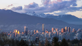 Vancouver al tramonto Fotografia Stock Libera da Diritti