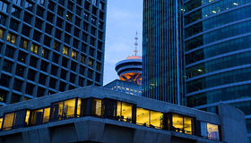 Vancouver all'alba Immagine Stock