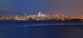 Vancouver alla notte Immagini Stock