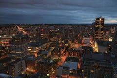Vancouver alla notte Fotografie Stock Libere da Diritti