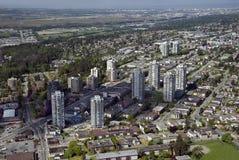 Vancouver-Antenne - Burnaby und neues Westminster stockbilder