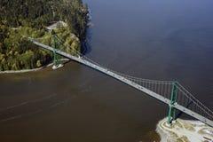 Vancouver-Antenne - Löwe-Gatterbrücke lizenzfreie stockfotografie