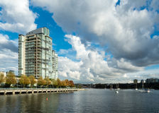 Vancouver Apartment Building Overlooking False Creek Royalty Free Stock Image