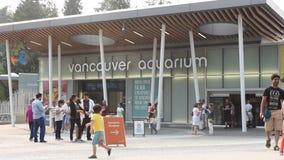 Vancouver-Aquarium in Stanley Park stock footage