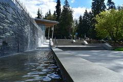 Vancouver-Aquarium in Stanley Park lizenzfreie stockbilder