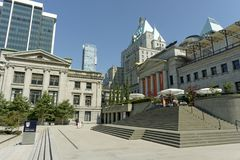 Vancouver Art Gallery complex stock photo
