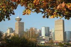 Vancouver Autumn Skyline Royalty Free Stock Photography