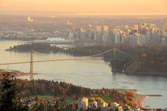Vancouver autumn sunset Royalty Free Stock Photos