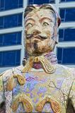 Chinese ancient warrior monument in Vancouver stock photo