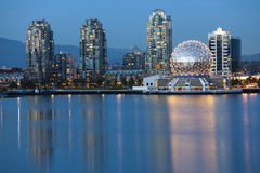 Vancouver B.C., Canada Skyline, skyline. Vancouver B.C., Canada Skyline at night along the waterfront Royalty Free Stock Image