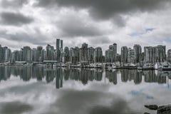 Vancouver B C Skyline stockfotos