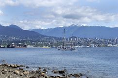 Vancouver Bay. The view of Vancouver Bay in Vancouver city (British Columbia, Canada Royalty Free Stock Photo