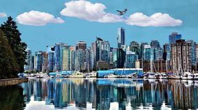 Vancouver Bay Cityscape Royalty Free Stock Photo