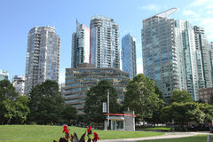 Vancouver BC architecture, Canada. Royalty Free Stock Images