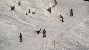 Vancouver BC Canada, 5,2017 December ski bij Hoenberg, Vancouver Canada Royalty-vrije Stock Foto
