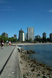 English Bay, Vancouver BC, Canada royalty free stock photo