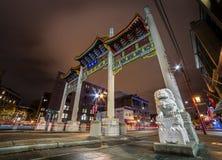 VANCOUVER, BC, CANADA - 04 NOV., 2015: De Millenniumpoort die in de Chinatown van Vancouver leiden ` s royalty-vrije stock foto