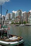 Vancouver BC, Canada. These popular apartment buildings in the West end of Vancouver have a great view, and are also within walking distance of the city's stock photos