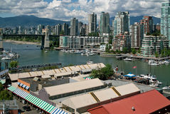 Vancouver BC, Canada. These popular apartment buildings in the West end of Vancouver have a great view over False Creek, and are also within walking distance of royalty free stock photos