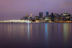 Vancouver BC City Skyline at Dawn Stock Photography