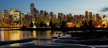 Vancouver BC City Skyline and Deadman's Island Stock Photography