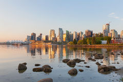 Vancouver BC City Skyline Morning in Canada Royalty Free Stock Photography