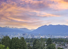 Vancouver BC City at Sunset Stock Photography