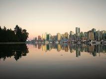 Vancouver BC an der Dämmerung Lizenzfreies Stockfoto