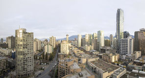 Vancouver BC Downtown Early Morning Panorama Stock Images