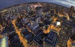 Vancouver BC Downtown Fisheye View Stock Image