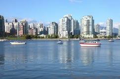 Vancouver BC downtown skyline at False creek. Stock Photo