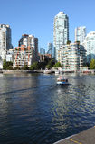 Vancouver BC downtown skyline at False creek. Royalty Free Stock Photo