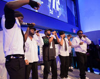 Naturally 7 at the Bell Ice Cube in Vancouver BC Royalty Free Stock Photo