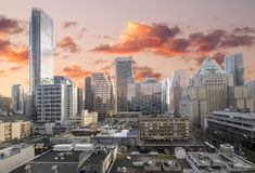 Vancouver BC i stadens centrum shoppingområde Royaltyfria Foton