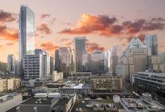 Vancouver-BC im Stadtzentrum gelegener Einkaufen-Bezirk Lizenzfreie Stockfotos