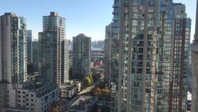 Vancouver BC Kanada drapacz chmur w centrum gromadzki nowożytny pejzaż miejski zdjęcie wideo