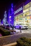 Vancouver BC, Kanada - 9. Januar 2018: Acura-Automobilverkaufsstelle-Speicherfront Acura ist die Luxusfahrzeugabteilung des Japan Lizenzfreie Stockbilder