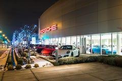 Vancouver BC, Kanada, Styczeń - 9, 2018: Porsche jest niemiec samochodu wytwórcy specjalizowaniem w wydajnych samochodach porsche Fotografia Stock
