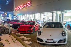 Vancouver BC, Kanada, Styczeń - 9, 2018: Porsche jest niemiec samochodu wytwórcy specjalizowaniem w wydajnych samochodach porsche Zdjęcia Royalty Free
