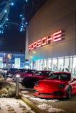 Vancouver BC, Kanada, Styczeń - 9, 2018: Porsche jest niemiec samochodu wytwórcy specjalizowaniem w wydajnych samochodach porsche Obrazy Stock
