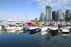 Vancouver BC marina. Royalty Free Stock Photos