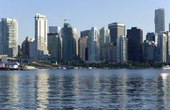 Vancouver-BC Skyline. Stockbild