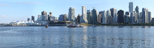 Vancouver BC skyline & Canada Place panorama, Stock Photo