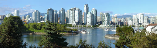 Vancouver BC skyline at False creek. Stock Photo