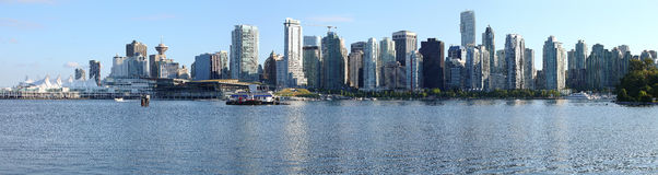 Vancouver BC skyline panorama, Canada. Royalty Free Stock Images
