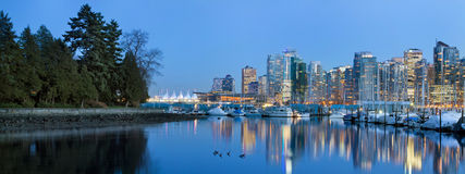 Vancouver BC Skyline from Stanley Park Stock Image