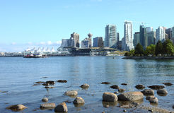 Vancouver BC from Stanley park, Canada. Stock Images