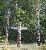 Vancouver BC Totem Poles Stock Image
